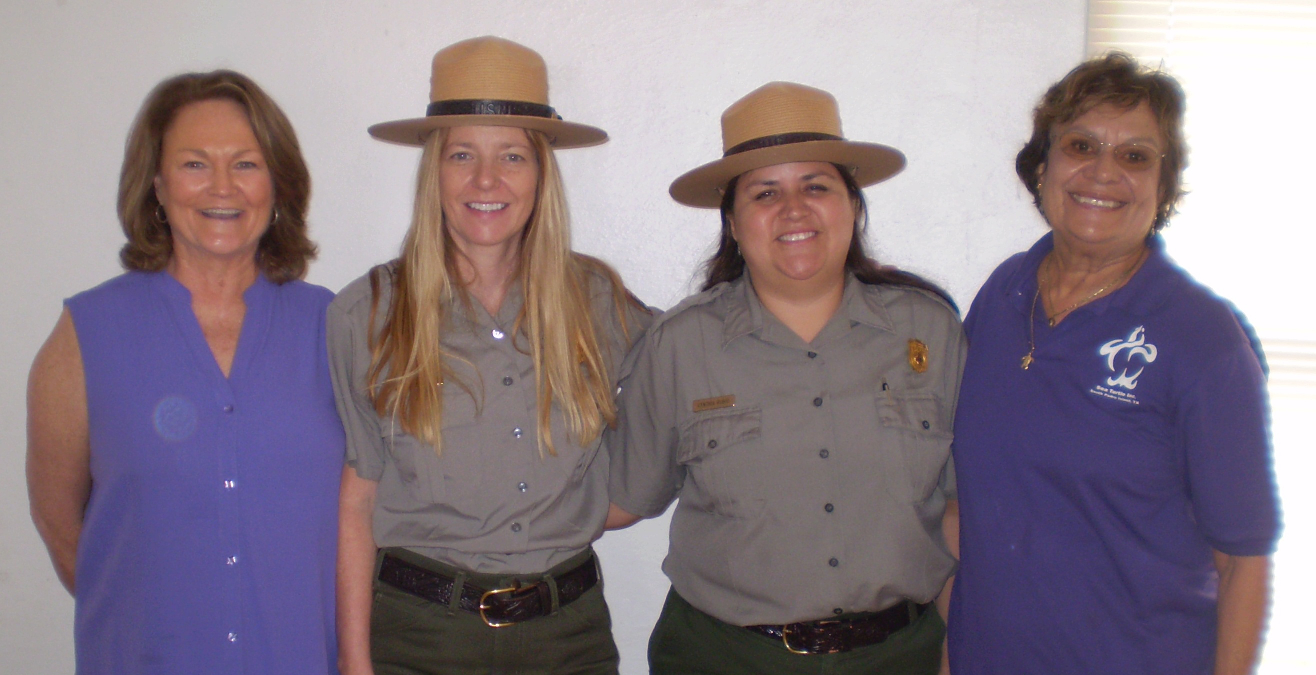 Donna Shaver and Cynthia Rubio with Patti Pitcock and Mary Ann Tous at 2009 Turtle Patrol Training